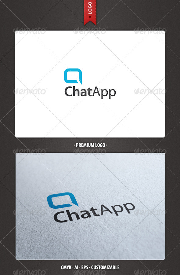 Chat App and Letter A Logo Template - Abstract Logo Templates