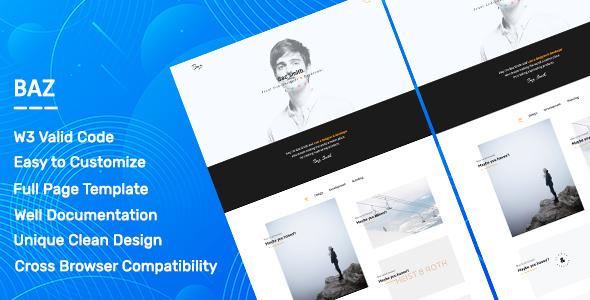 Baz. - Personal Portfolio & Agency Template