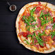 Italian pizza. Prosciutto di parma. Top view, overhead - PhotoDune Item for Sale