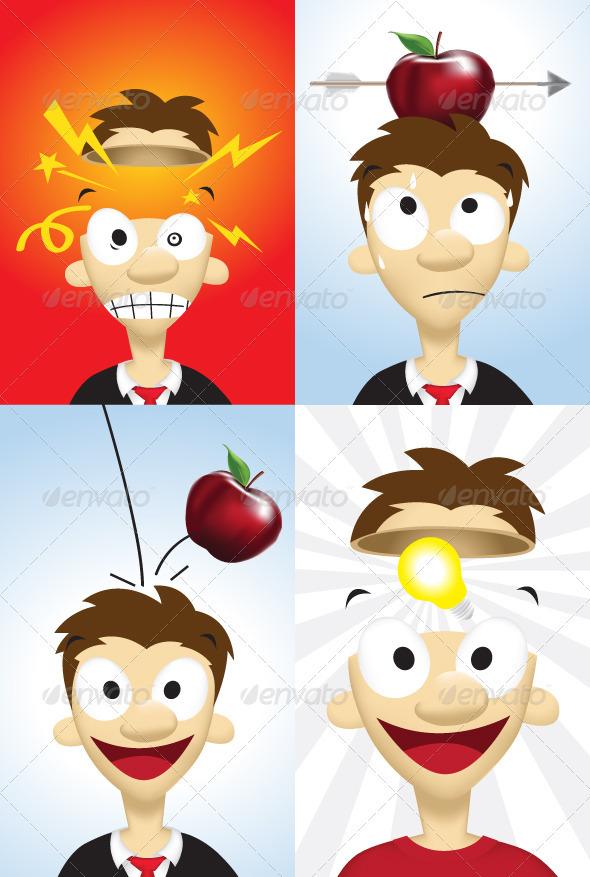 Businessman Character - Characters Vectors