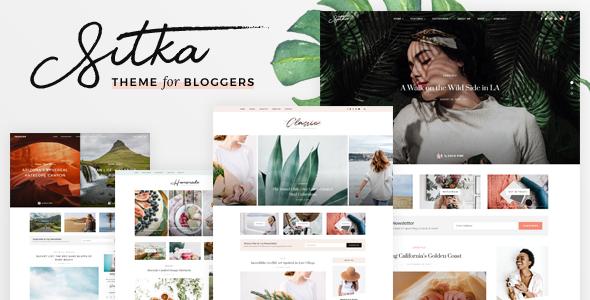 Extraordinary Sitka - Modern WordPress Blog Theme