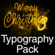 Merry Christmas Typography Pack - VideoHive Item for Sale