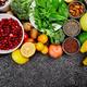 Selection of Best High Alkaline Foods. Vegan. - PhotoDune Item for Sale