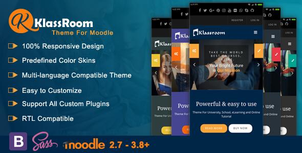 Klassroom Premium Moodle Theme By Cmsbrand Themeforest