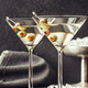 Two glasses of martini cocktail - PhotoDune Item for Sale