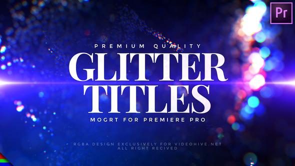 Glitter Titles – Premiere Pro | Mogrt