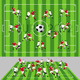 Football Field with Ball and Players - GraphicRiver Item for Sale