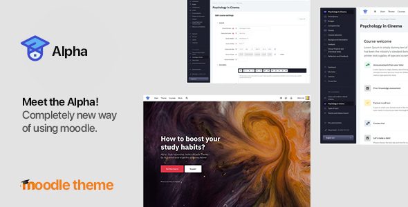 Alpha v 1.1.6 - Responsive Premium Theme for Moodle 3.6, 3.7, 3.8 and later