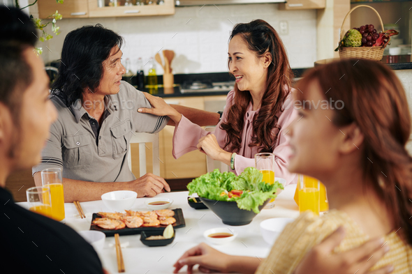 Family breakfast at home - Stock Photo - Images