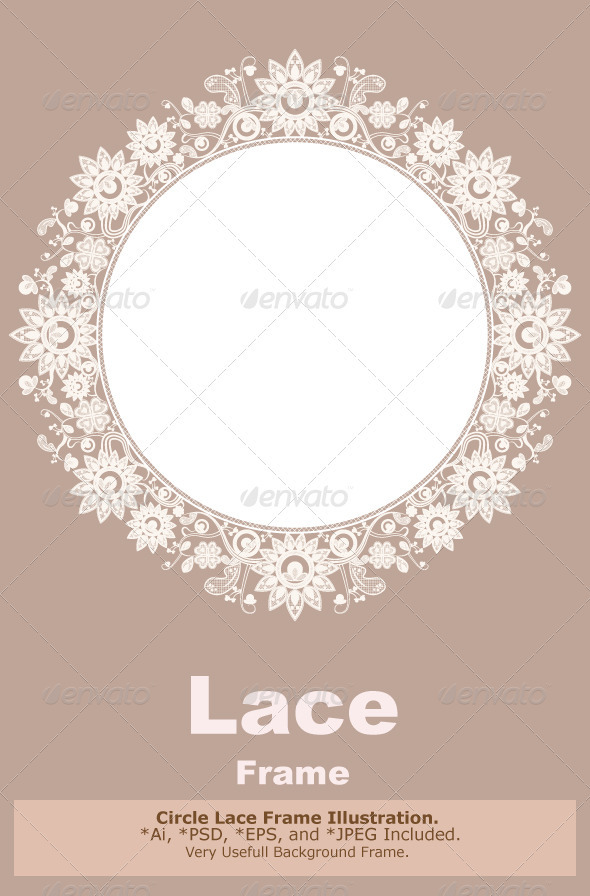 Lace Frame - Flourishes / Swirls Decorative
