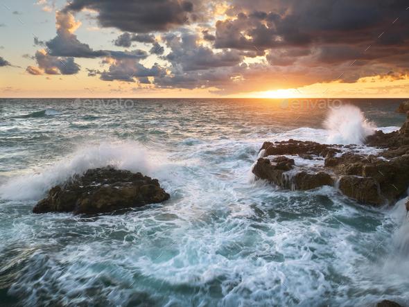 Beautiful seascape nature. - Stock Photo - Images