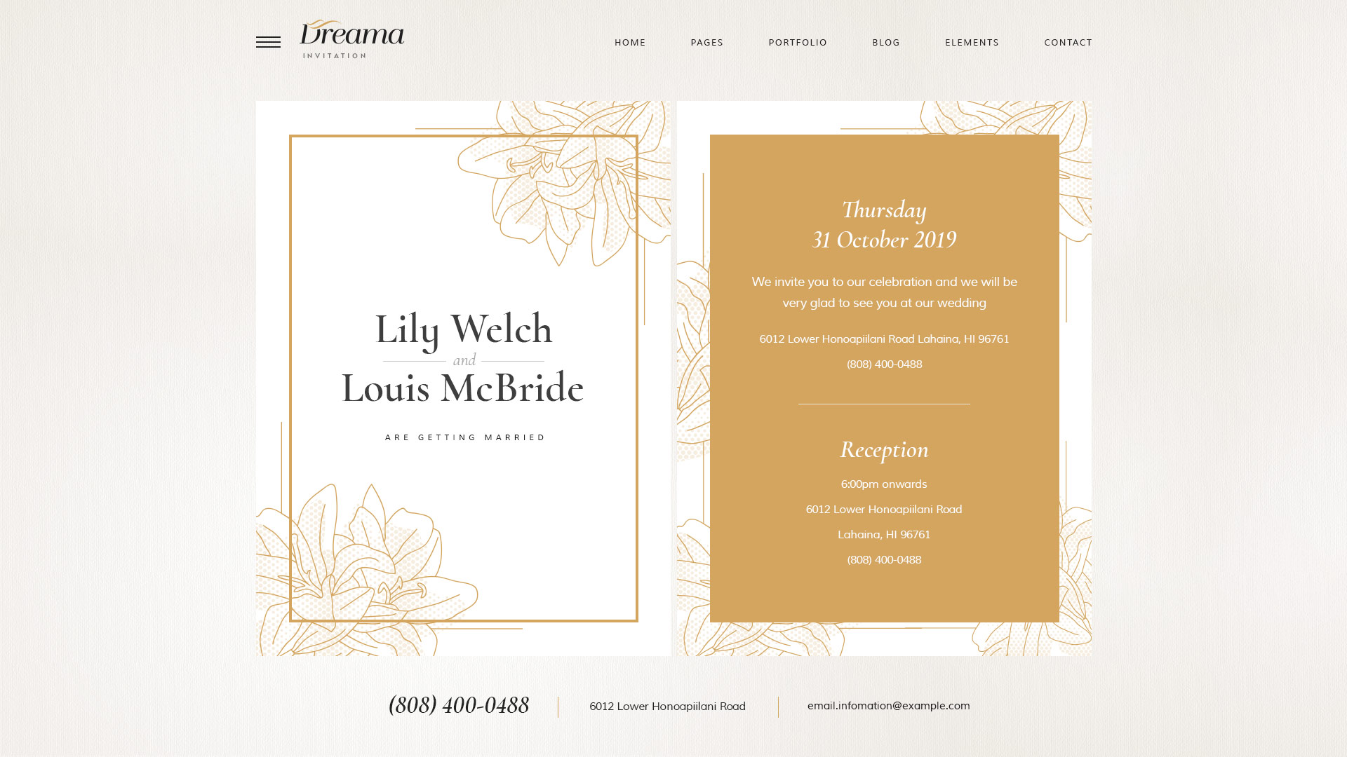 Dreama - Engagement & Wedding Planner WordPress Theme by Opal_WP ...