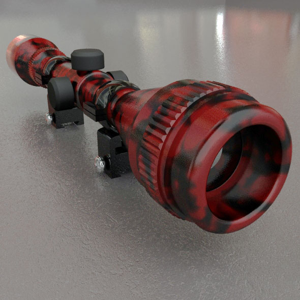 Red Tiger Sniper Scope - 3DOcean Item for Sale