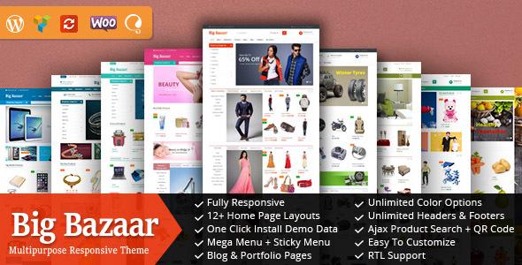 BigBazaar - Responsive WooCommerce WordPress Theme