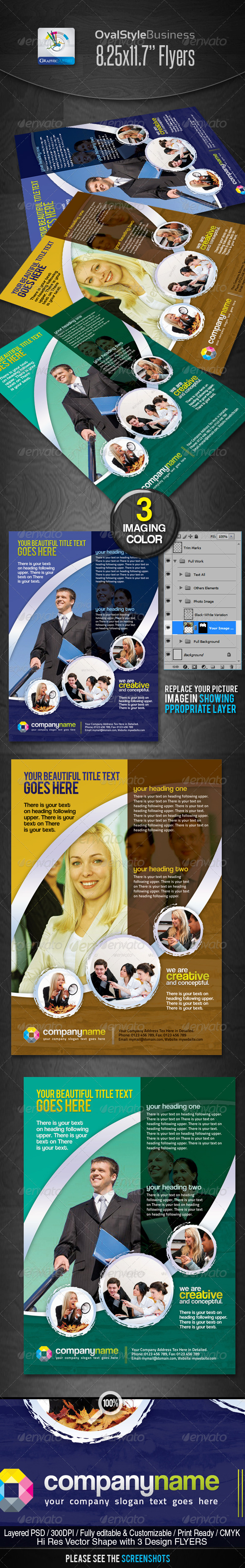OvalStyle Corporate Business Flyers/Ads - Corporate Flyers