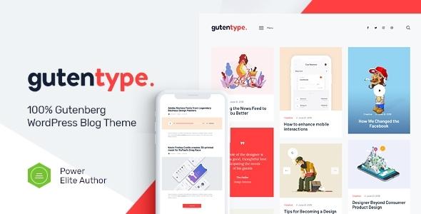 Gutentype | 100% Gutenberg WordPress Theme for Modern Blog + RTL