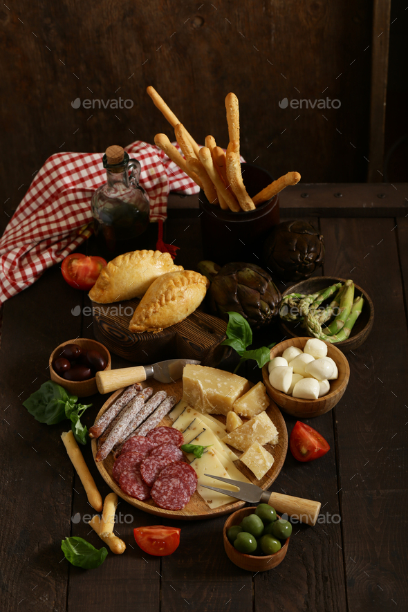 Delicious Snacks and Antipasti - Stock Photo - Images