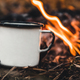 Making coffee at the stake. Make coffee or tea on the fire of nature. Burned fire. A place for fire - PhotoDune Item for Sale
