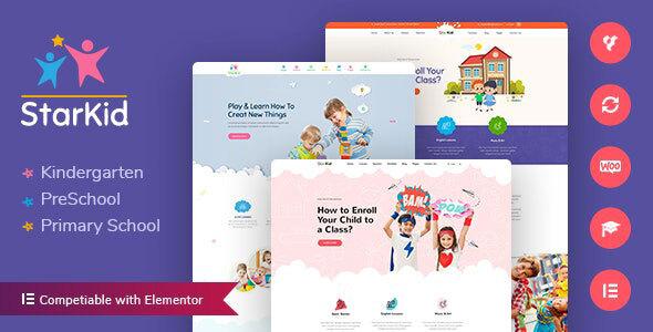 StarKid   Kindergarten WordPress Theme
