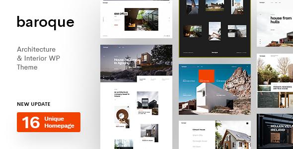 Baroque - Architecture & Interior WordPress Theme
