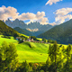 Funes Valley Santa Magdalena view and Odle mountains, Dolomites Alps, Italy. - PhotoDune Item for Sale