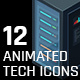 12 Animated Tech Icons - VideoHive Item for Sale
