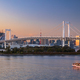 Rainbow Bridge and Sumida River in Tokyo, Japan. Night photo - PhotoDune Item for Sale