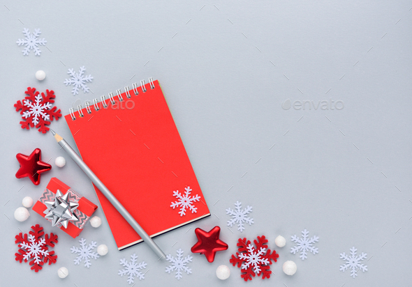 Christmas or New Year greeting card - Stock Photo - Images