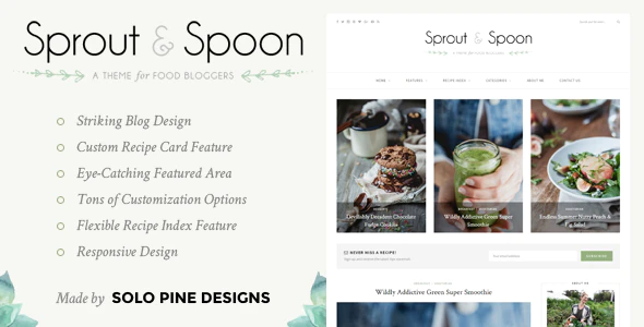 Sprout & Spoon - A WordPress Theme for Food Bloggers