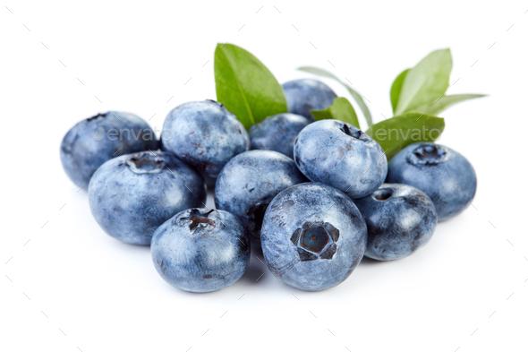 Blueberry on white background - Stock Photo - Images