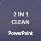 Clean 2 In 1 Presentation PowerPoint Template Bundle