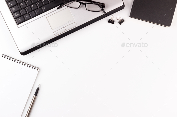 White office desk mock up - Stock Photo - Images