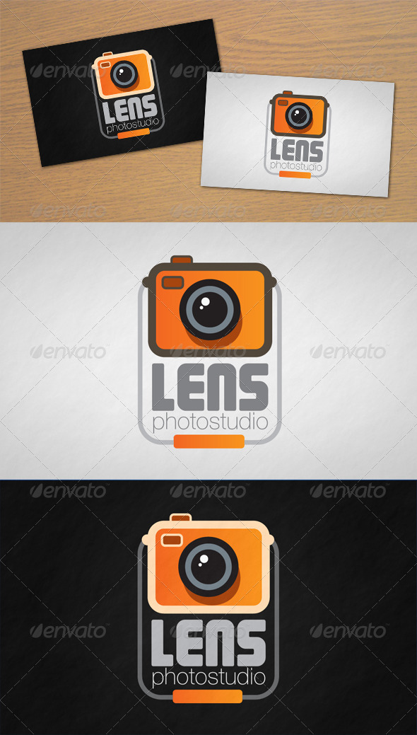 Lens Photo Studio Logo - Objects Logo Templates