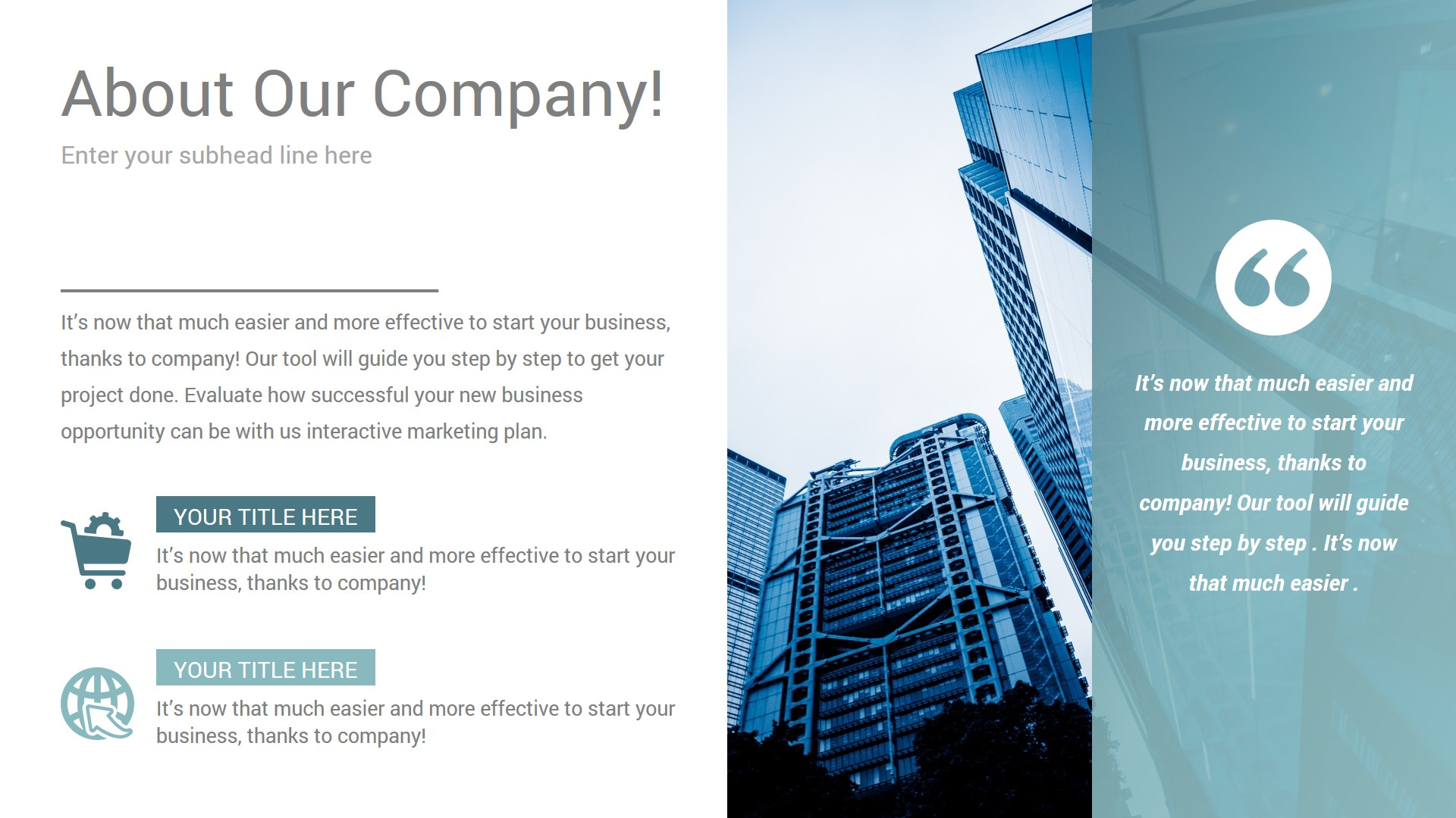 Company Profile PowerPoint Infographics Diagrams Slides 009