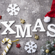 Christmas background with letters XMAS - PhotoDune Item for Sale