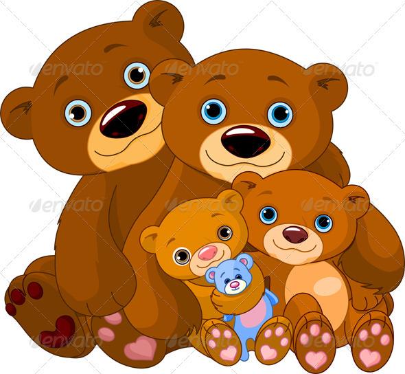 Bear family - Animals Characters