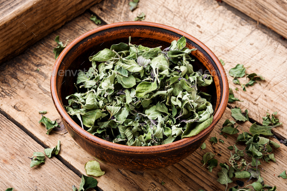Dried oregano herb - Stock Photo - Images