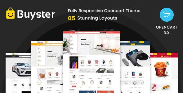 Buyster Multipurpose - Responsive Opencart 3.0 Theme
