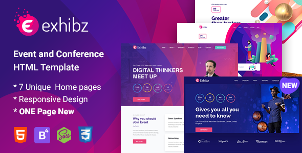 Exhibz - Conference and Event HTML Template