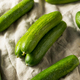 Raw Green Organic Baby Cucumbers - PhotoDune Item for Sale