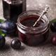 Jar with homemade plum jam - PhotoDune Item for Sale