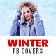 Winter Sale Facebook Cover Templates - 5 Designs