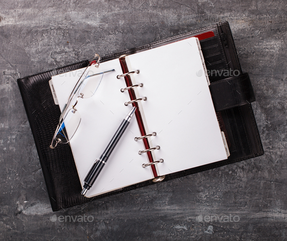 Notebook with pen.Business Concept - Stock Photo - Images