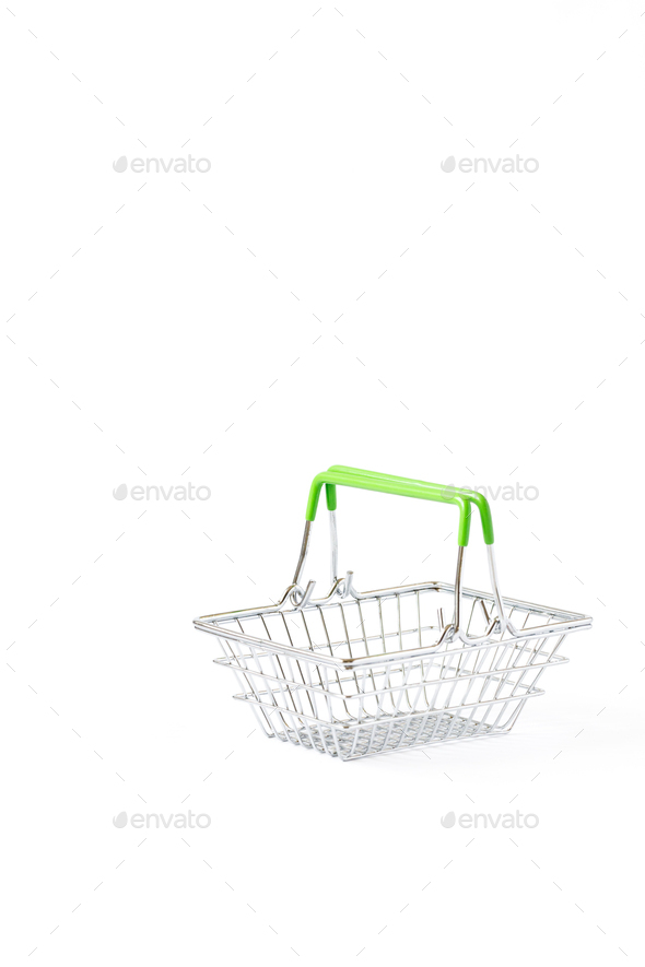 Shopping cart trolley basket .Conception Festive Sale Discount - Stock Photo - Images