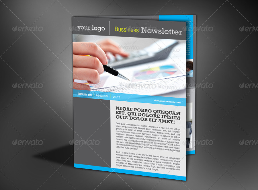 4 pages modern newsletter by milana graphicriver