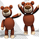 Teddy Bear Toy - Friendly Hello Waving (3-Pack) - VideoHive Item for Sale