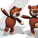 Teddy Bear Toy - Funny Dance (2-Pack) - VideoHive Item for Sale