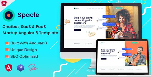 Spacle - Angular 8 Chatbot & SaaS Startup Template