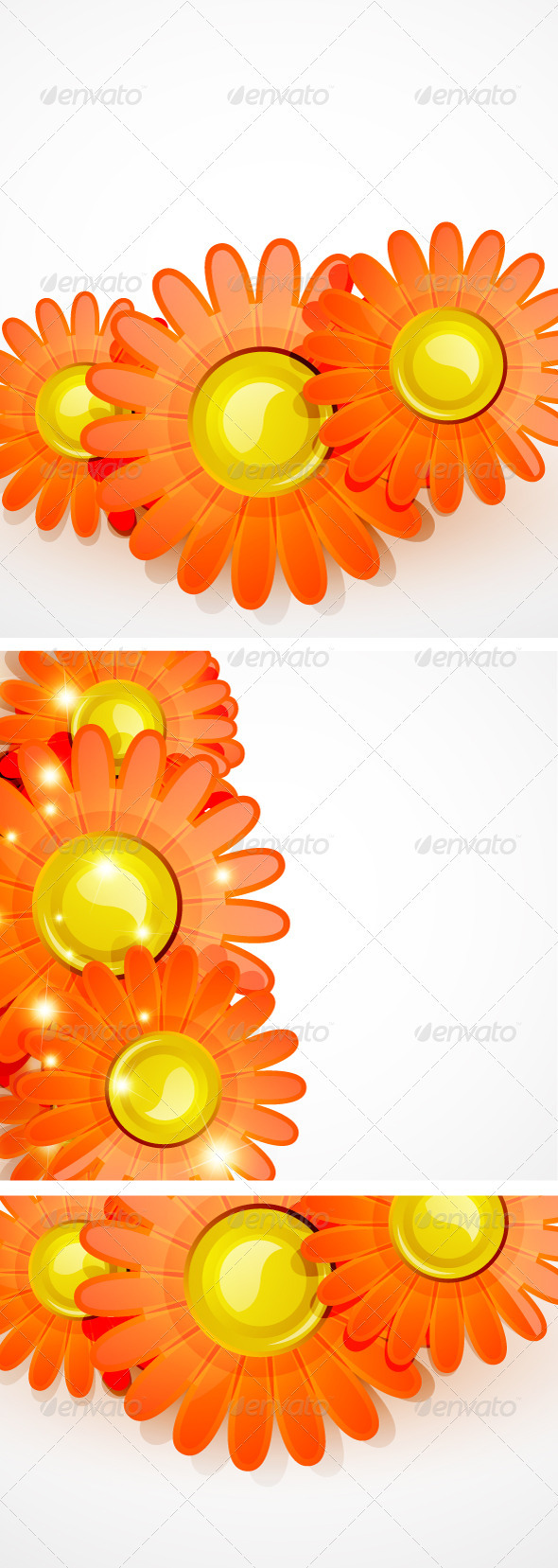 Vector Glossy Flowers - Flowers & Plants Nature