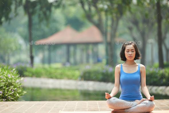 Meditation time - Stock Photo - Images